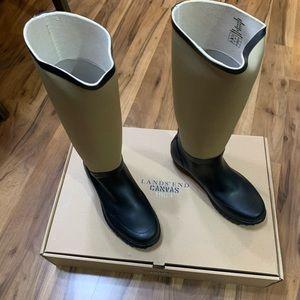 Lands End Canvas 1963 Women's Neoprene Wellie Boot